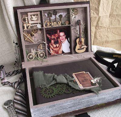 C.h.e.a.p.-art: Вдохновение от ДК. Наталья Бойкова: Коробка-шадоубокс для альбома