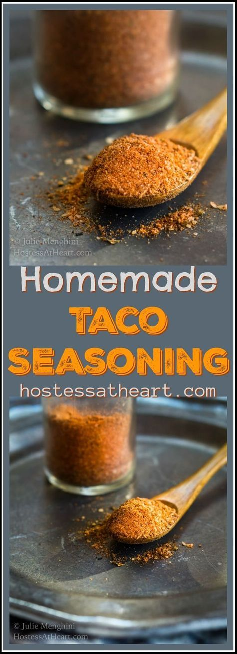 Homemade Taco Seasoning allows you to seasondishes exactly the way you like making it perfect for people on special diets or those who like to control intensity. #MexicanFood #Seasoning #Spices #TacoTuesday | Taco Seasoning Mix | Tacoseasoning | How To Make Taco Seasoning via @HostessAtHeart