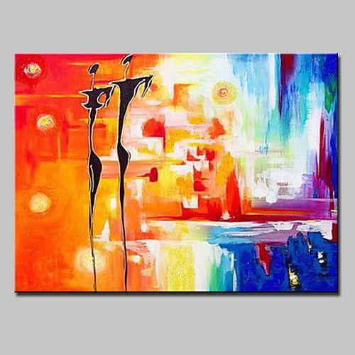 Peint à la main Abstrait Fantaisie Horizontale,Moderne Style européen Un Panneau Toile Peinture à l'huile Hang-peint For Décoration de 2017 ? €47.41