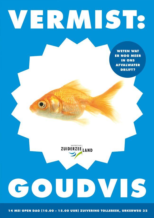 Simons en Boom: Poster, Campagne Waterschap Zuiderzeeland - Open Dag Afvalwaterzuivering Tollebeek