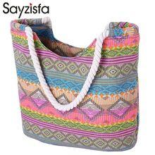 Sayzisfa отдыха, пляжные сумки женские парусиновая сумка полосатые принты сумка дамы плеча сумки повседневные сумки торговых Bolsa T213(China (Mainland))