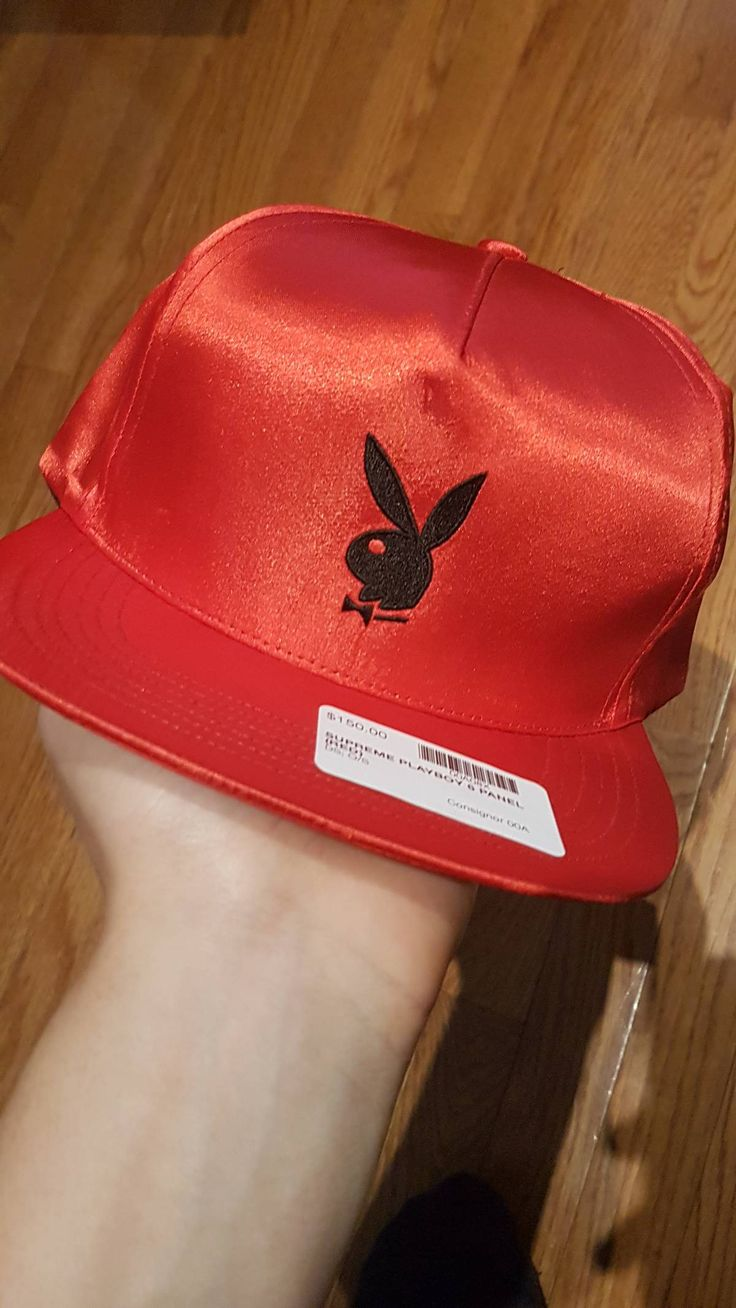 Supreme Red Silk Playboy X Supreme Hat Size one size - Hats for Sale - Grailed