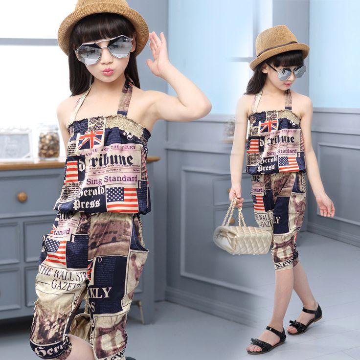$17.07 (Buy here: https://alitems.com/g/1e8d114494ebda23ff8b16525dc3e8/?i=5&ulp=https%3A%2F%2Fwww.aliexpress.com%2Fitem%2F2016-summer-girl-clothing-set-korean-UK-USA-paper-print-clothes-for-teenage-girl-novelty-kids%2F32684612070.html ) 2016 summer girl clothing set korean UK/USA paper print clothes for teenage girl novelty kids clothes for just $17.07