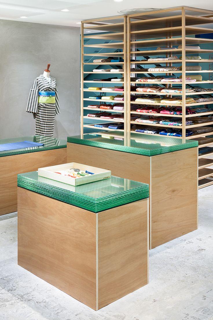seki designs otsuka-gofukuten kimono storefront in kobe, japan