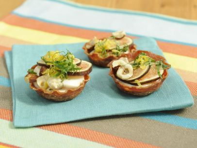 Salami Cups with Whipped Honey Ricotta and Fresh Figs Recipe : Jeff Mauro : Food Network