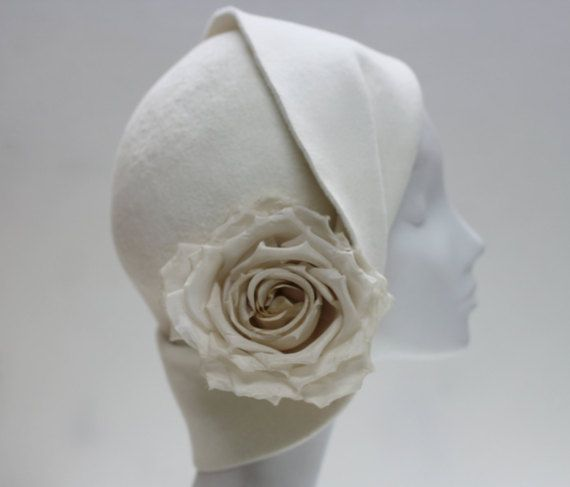 Hey, I found this really awesome Etsy listing at https://www.etsy.com/listing/253305505/beautiful-cloche-hat-w-silk-rose-bridal