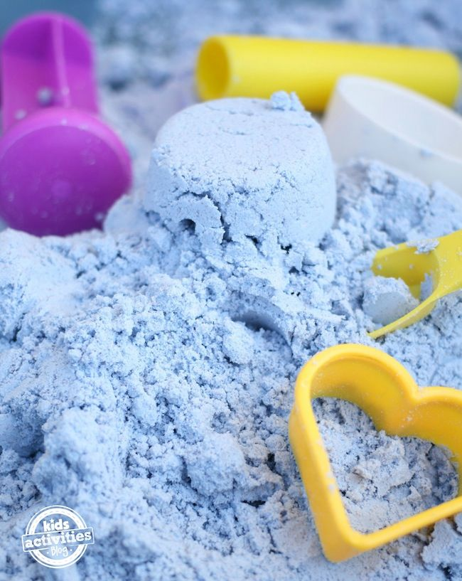 3-ingredient toddler-safe cloud dough - Easy to make, an amazing sensory experience, and a non-toxic, taste-safe recipe!
