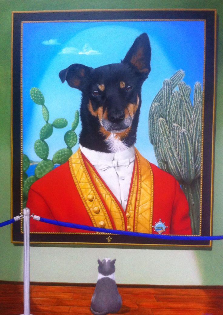 Dushi Zowel de hond, Dushi, als de kst, Minou zijn dood. De kat stierf van verdriet omdat ze de hond miste. Alfred Ophof