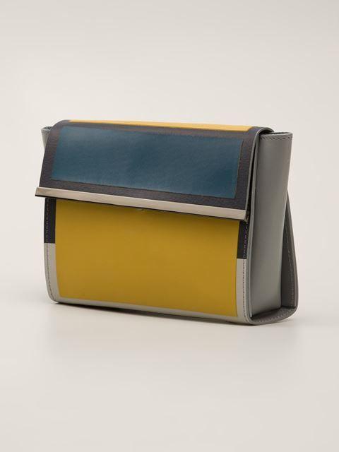 Issey Miyake colour block clutch