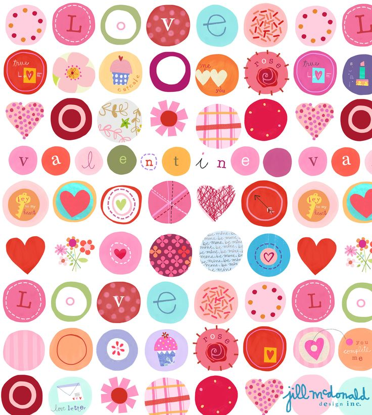 Valentine Print by Jill McDonald Design | Imágenes | Pinterest | Valentines, Print patterns and Pattern