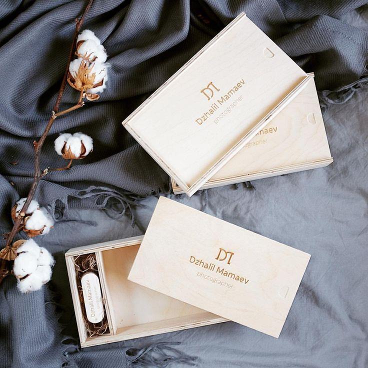Короба доя флешки и фото 10х15 по 500р/шт с гравировкой лого #korabook #коробдляфото #коробдляфлешки