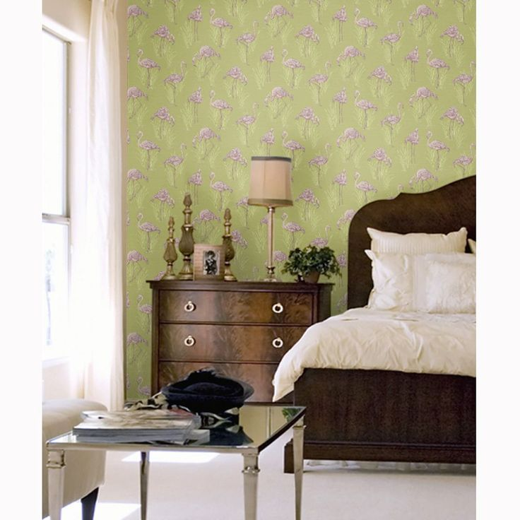 Wonderful This Stylish Wallpaper Puts A Contemporary Twist On The Traditional With  Its Modern Colour Palette In Shades Of Lime Green And Pink. Good Ideas