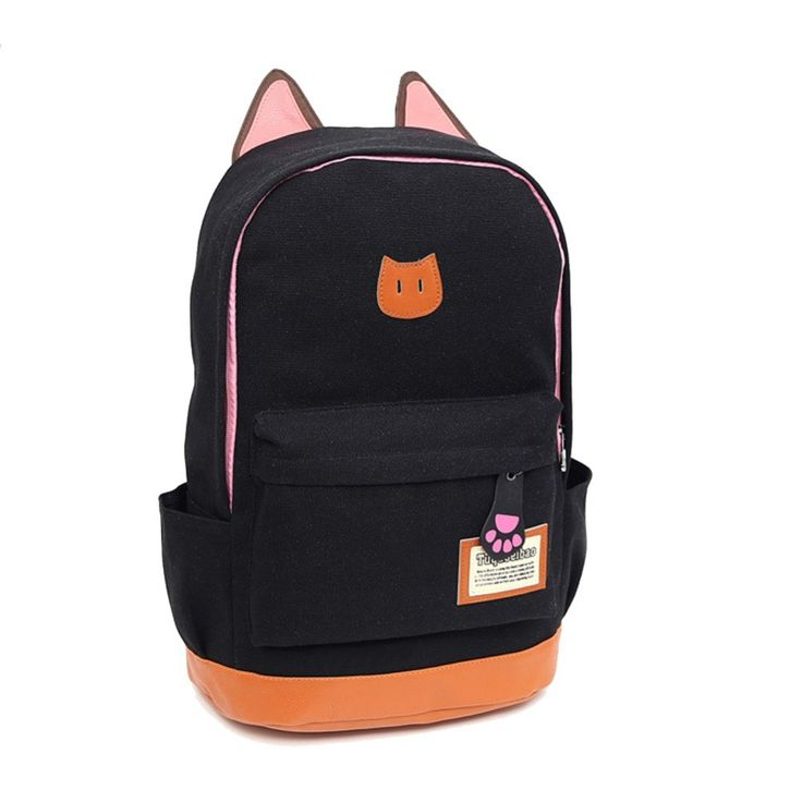 2015 Vintage Women Canvas Backpacks for Teenage Girls School Bags Cartoon Cat Backpack Female Travel Bag mochila rucksack C5004-in Backpacks from Luggage & Bags on Aliexpress.com   Alibaba Group