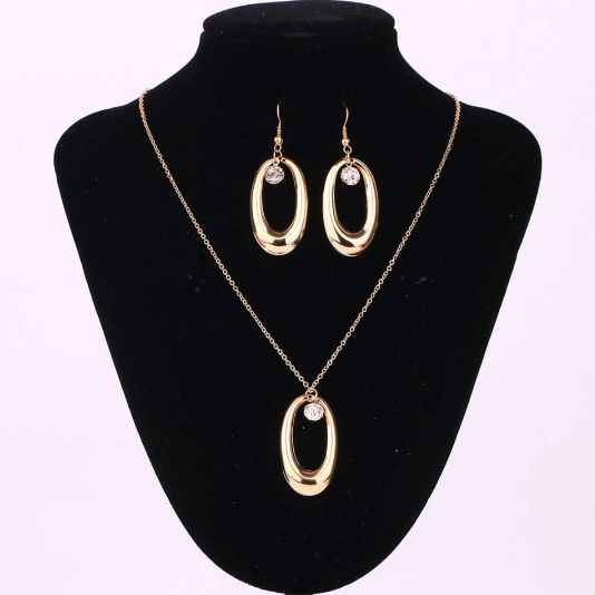 Infinity Necklace and Earrings Set