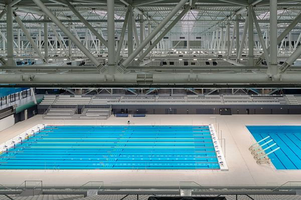 Competition pool and dive pool in Budapest.
