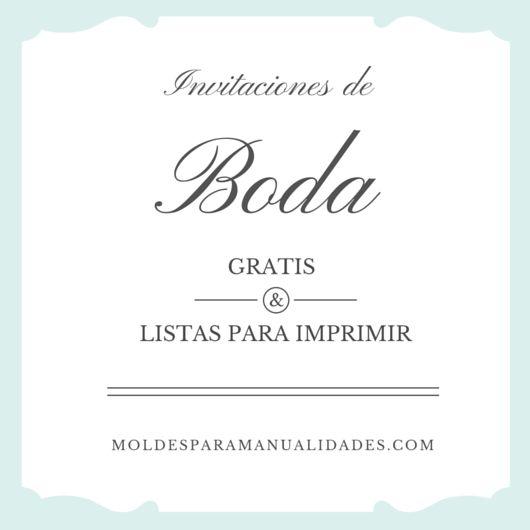 Modelos de Invitaciones de Boda Gratis