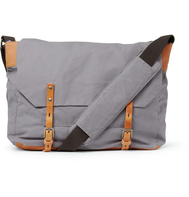 Jeremy Waxed-Cotton Messenger Bag men