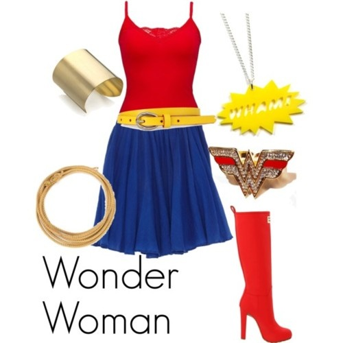 Wonder woman pants costume-1379