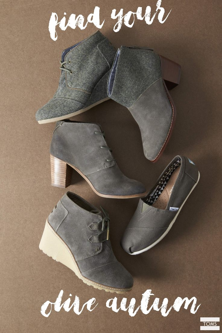 From slip-ons to booties, there's an olive style for everyone. Click the pin to shop olive TOMS Shoes.