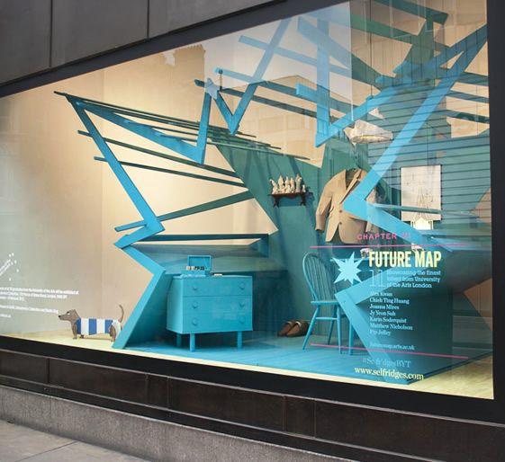 Selfridges Window - Studio XAGVisual Merchandising, Shops Windows, Maps Installations, Window Displays, 10 Shops, Future Maps, Windows Display, Design, Retail