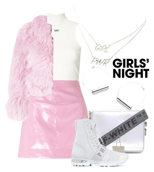 """Pinky Kay"" by memevianti ❤ liked on Polyvore featuring Off-White, Miss Selfridge, Charlotte Simone, Philipp Plein, Charlotte Russe, Pink, girlsnight, EdgyStyle and srtreetstyle"