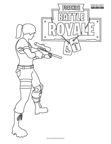 Fortnite Battle Royale Coloring Page Super Fun Coloring