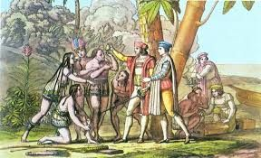 13  – En aquel primer viaje descubrió también Cuba y La Española (Santo Domingo), e incluso construyó allí un primer establecimiento español con los restos del naufragio de la Santa María (el fuerte Navidad). Persuadido de que había alcanzado las costas asiáticas, regresó a España con las dos naves restantes en 1493.