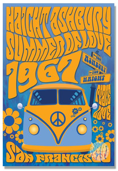 "13"" x 19"" Haight Ashbury 'Summer Of Love' Print"