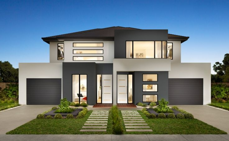 Stylish and modern duplex house design