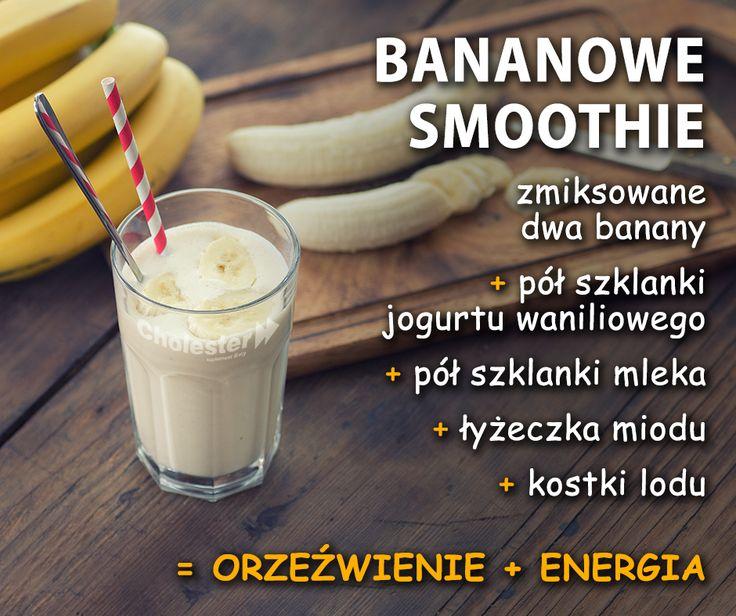 Banan w roli głównej. Pora na nowe smoothie. Smacznego! :)  #smoothie #dieta #napoje #witaminy #banan