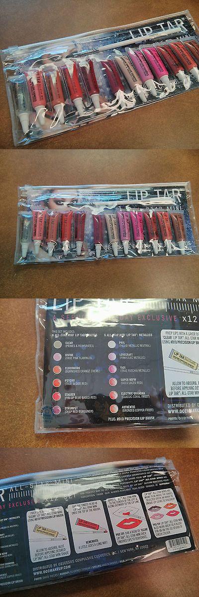Lip Stain: Obsessive Compulsive Cosmetics All-Star Mini Set Of 12 Lip Tar And Full Lip Brush -> BUY IT NOW ONLY: $80.49 on eBay!