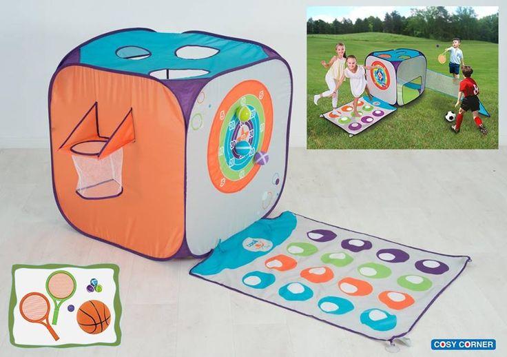 Pop-up κύβος ειδικά σχεδιασμένος, ώστε να μπορούν τα παιδιά να διασκεδάσουν παίζοντας έξι διαφορετικά αθλήματα! 49,95€ https://goo.gl/uwLczo