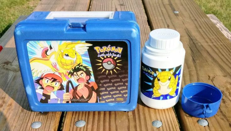 POKEMON Lunch Box VINTAGE 1999 with Thermos  | Collectibles, Pinbacks, Bobbles, Lunchboxes, Lunchboxes, Thermoses | eBay!