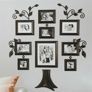 display your favorite family photos with wall verbs a collection of photo frames and decorative accents to personalize your home