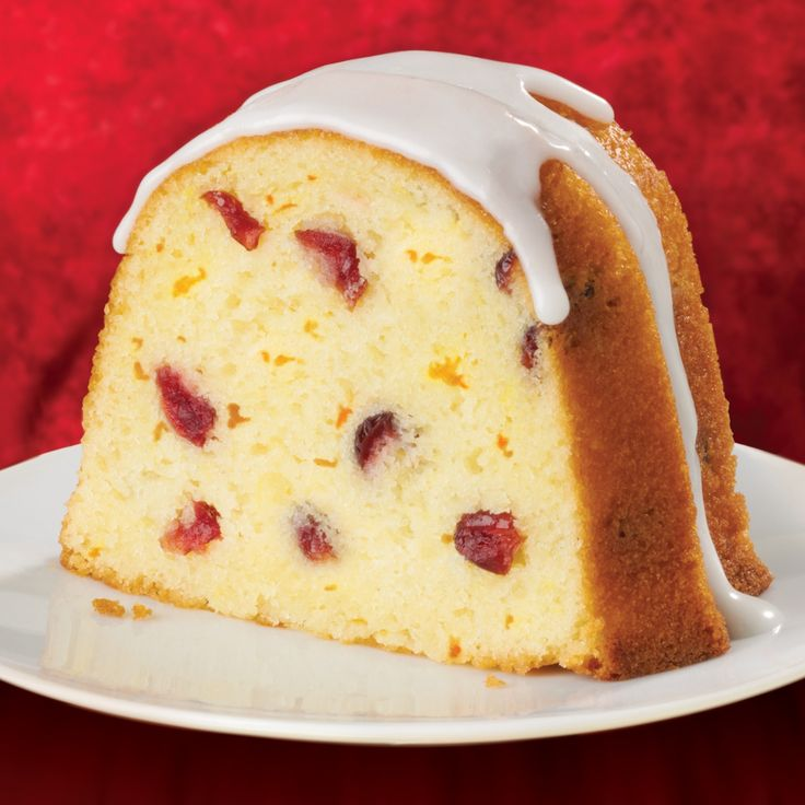 Cranberry-Orange Bundt Cake: A Bundt cake recipe flavored with fresh orange and dried cranberries, then finished with a simple glaze