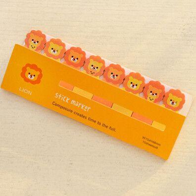 C21 1X Cute Kawaii Fresh Cartoon Bookmark Memo Pad Sticky Note Paper Stickers Sticker Marker Korean Stationery School Supplies