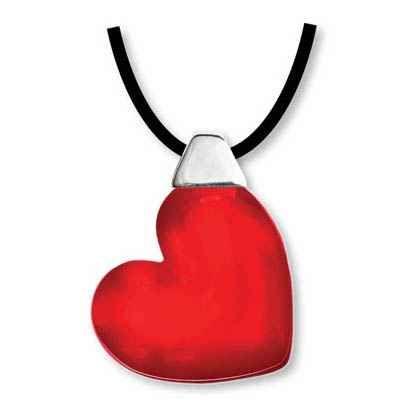Halsband Hjärta, röd