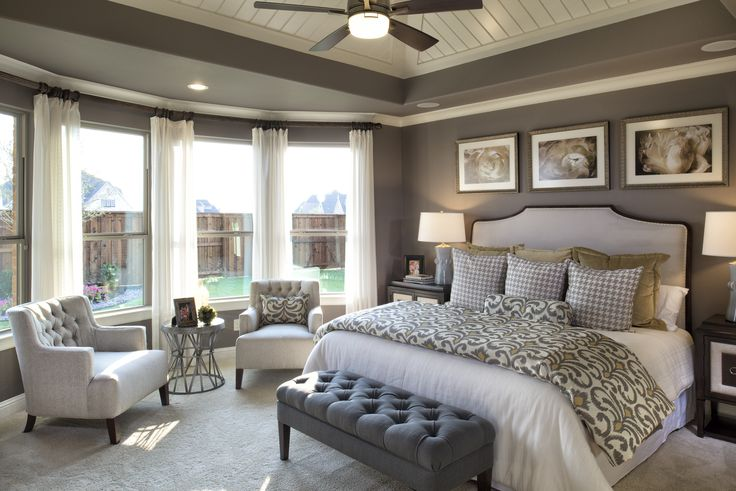 Pure elegance! #master #bedroom. Just needs a privacy hedge and flowers, flowers, flowers outside those gorgeous Windows!