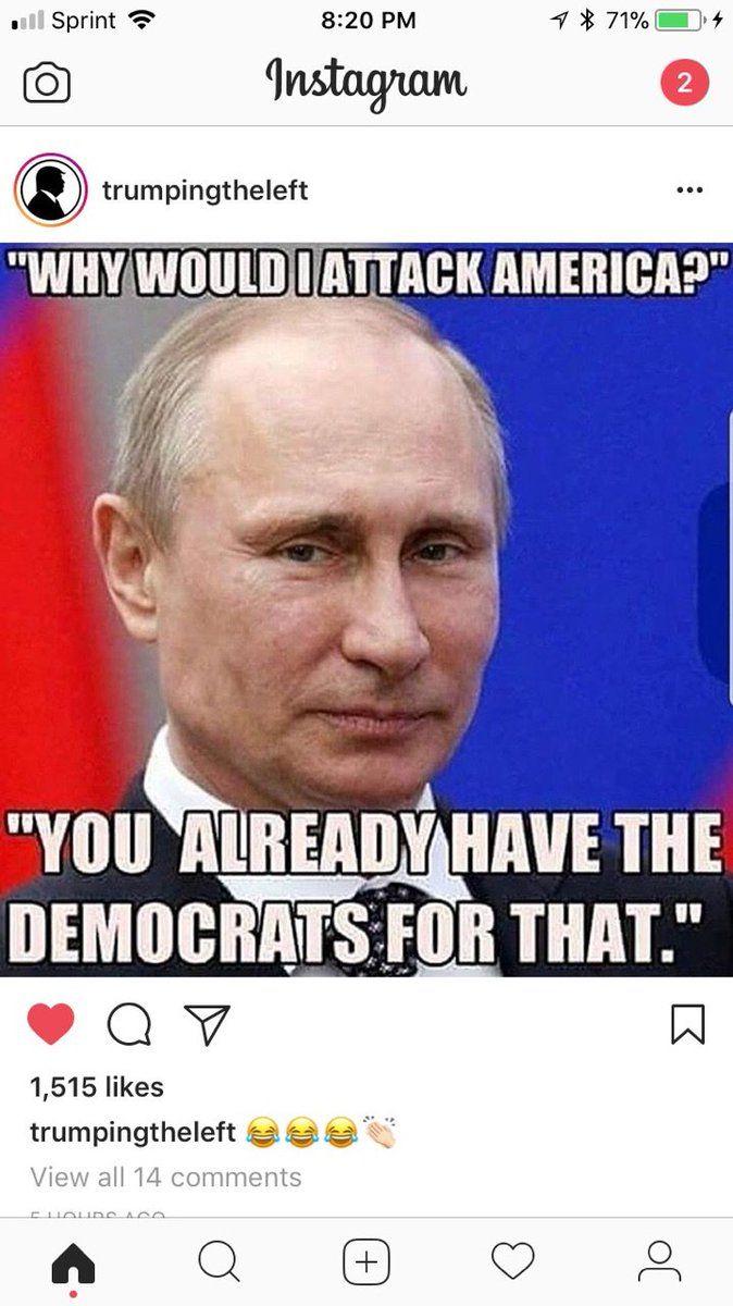 Putin is right about this. Although the left is kinda generic, it's the progressive of the left is what destroying the USA (and most of the world)