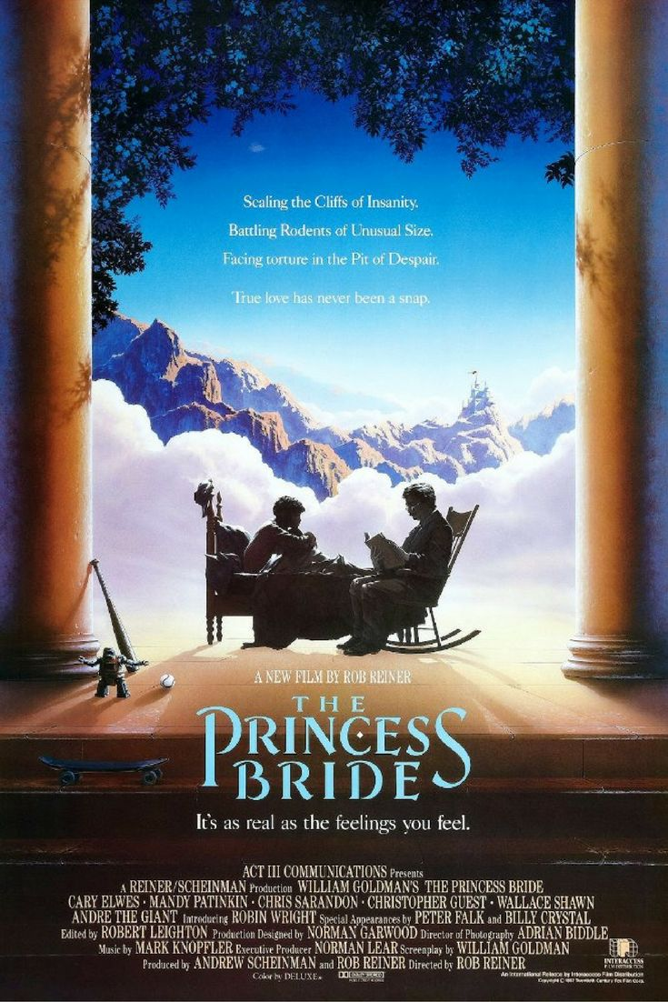 The Princess Bride - an excellent movie to watch with your preschooler! Click through for the full list at www.moviesandtv.co.