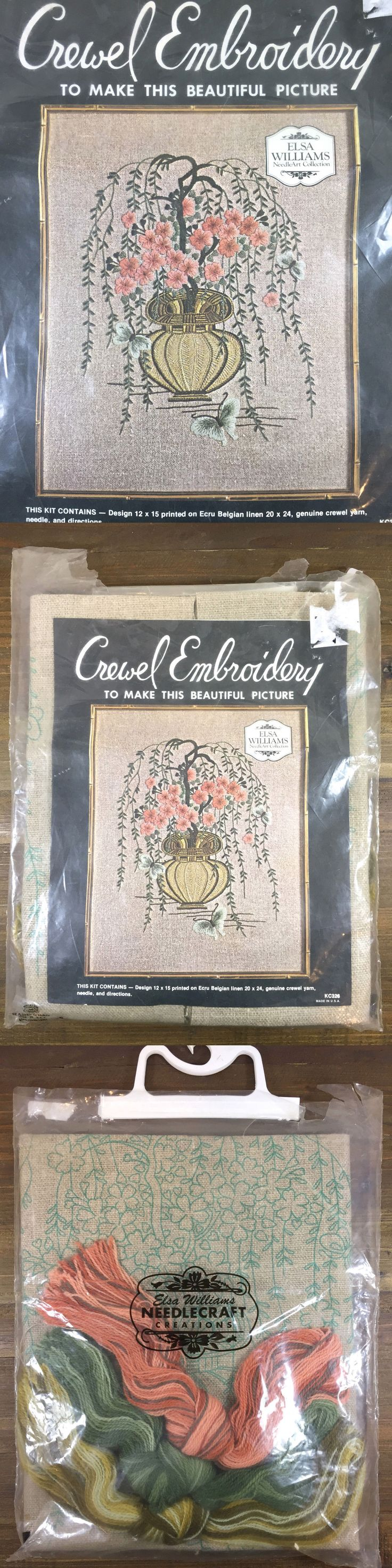 Crewel Embroidery Kits 116610: Vintage Elsa Williams Chinese Cherry Blossom Picture Crewel Embroidery Kit Kc326 -> BUY IT NOW ONLY: $34.6 on eBay!