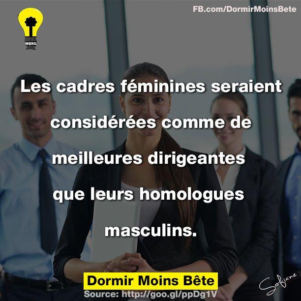 Les cadres féminines seraient considérées comme de meilleures dirigeantes que leurs homologues masculins.