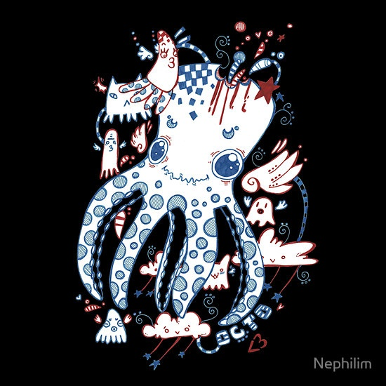 Octopussy and Copy Squid by Nephilim