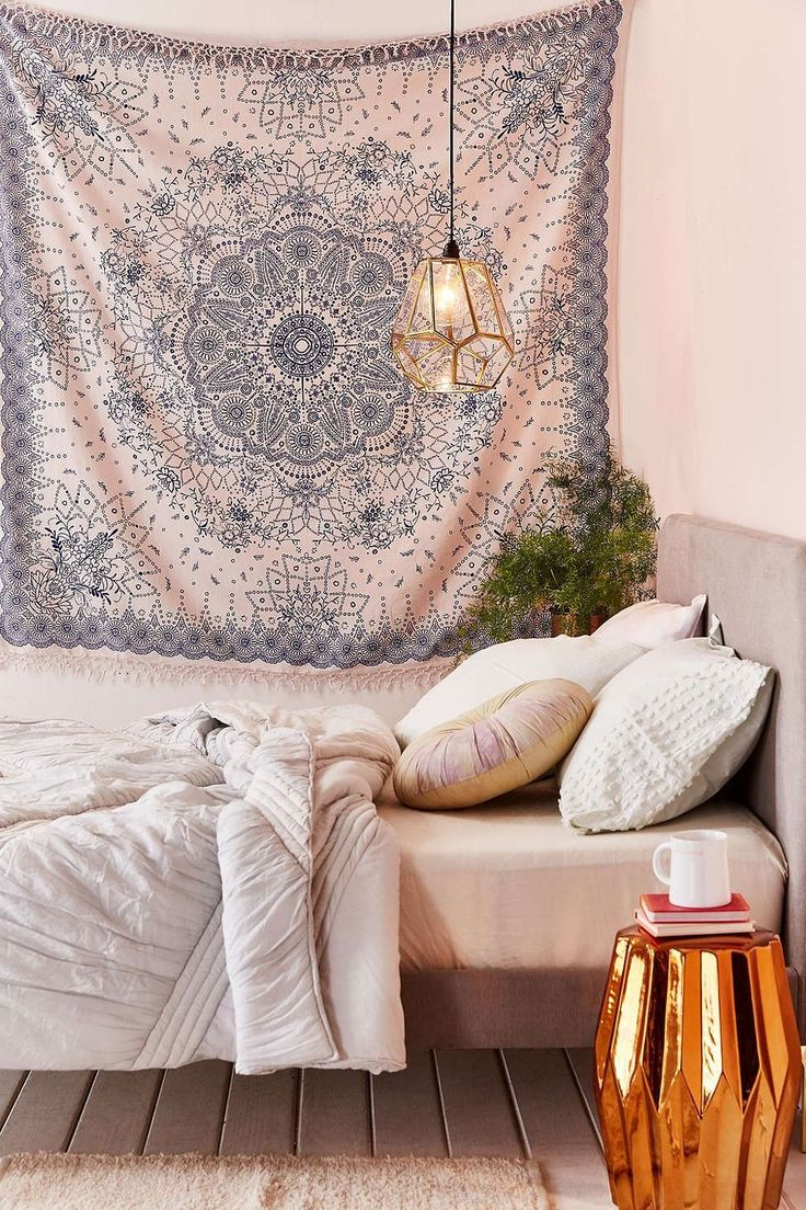 Urban outfitters bedroom tapestry - Emilia Medallion Fringe Tapestry