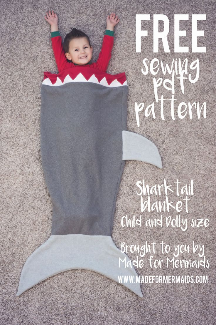 Shark Tail Blanket for Kids & Dolly ⋆ Made for Mermaids  I have this pattern- video liked on YouTube