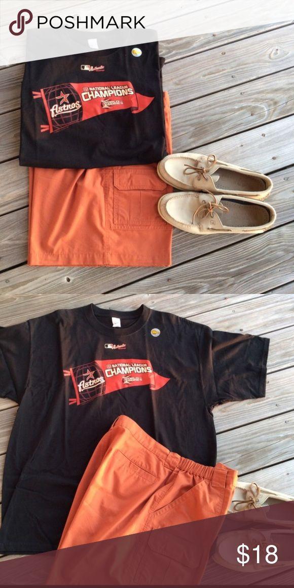Astros 2005 National League Champion T-Shirt Authentic Houston Astros 2005 National League Champions World Series Shirt Shirts Tees - Short Sleeve