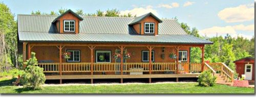 Pole barns pole barn homes and pole barn houses on pinterest for Pole building house cost