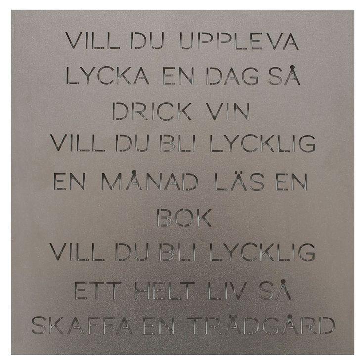 """Odla Trädgårdspoesi """"Vill du"""", Plåt, Ernst Kirchsteiger"""