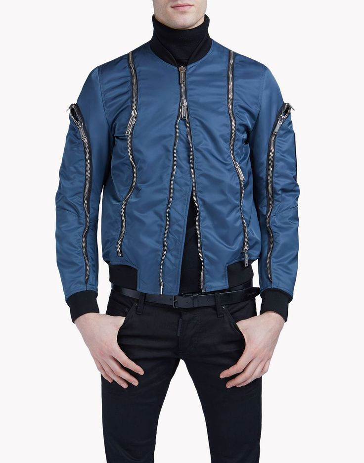 Dsquared2  Fall 2016 Jacket: zipped bomber blue
