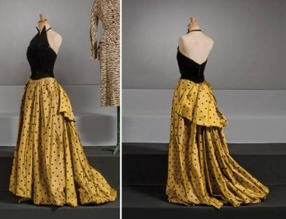 Jacques Heim  Haute couture, circa 1947/1950 evening dress